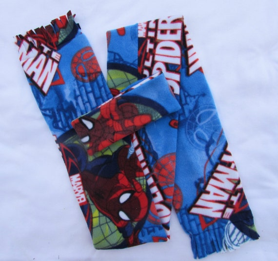 Spiderman fleece headband and scarf set size toddler and school age