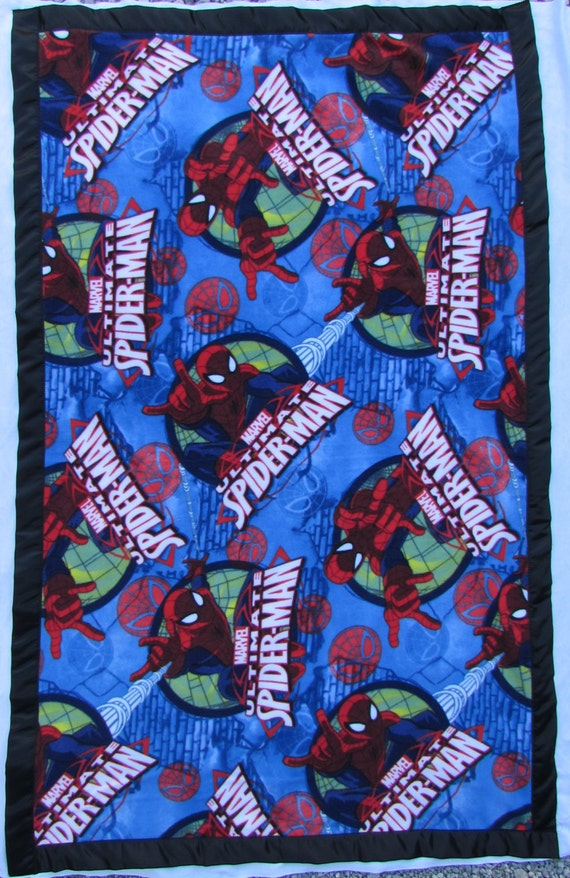 Spider-man fleece toddler blanket with satin edge