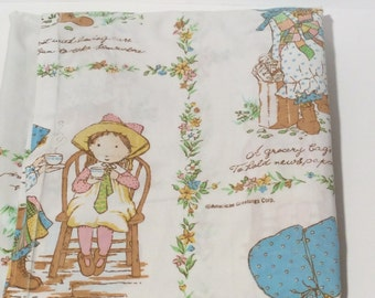 Vintage Hollie Hobbie Twin Sheet, Super Soft, Perfect for crafting