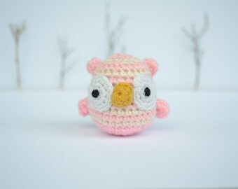 Mini owl, owl miniature,owl plush, cute owl, small owl, owl toy,  amigurumi owl,stuffed animal,stuffed owl