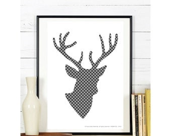 A4 - Poster - deer - has download and print