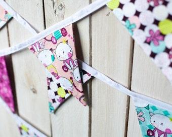 Handmade Cat Bunting: 12 Flags