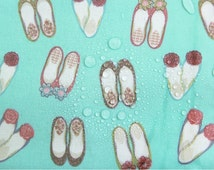 Laminated Cotton Fabric Shoes Mint By The Yard