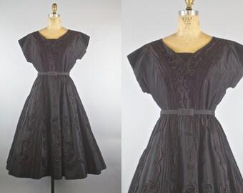 1950s Gloria Swansan Party Dress / 50s Dress  / 1950s Party Dress