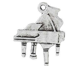 4 Piano Charms Grand Piano Pendant Musical Instrument Band Concert 4010