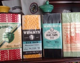 1930's Rick Rack & Bias Tape Sewing Lot