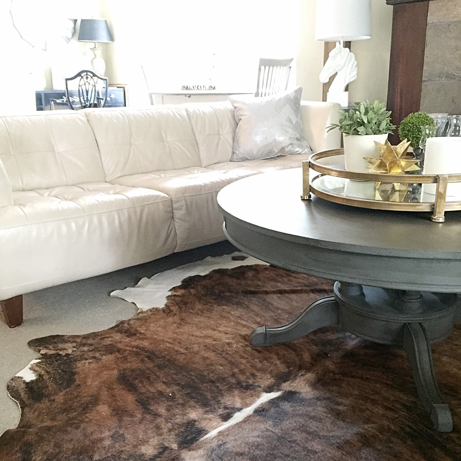Round Coffee Table Chalk Painted French By Farmhousefare On Etsy