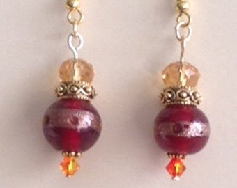 Fiery Red & Gold Drops