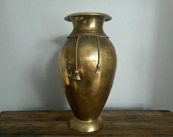 Large Vintage Brass Vase