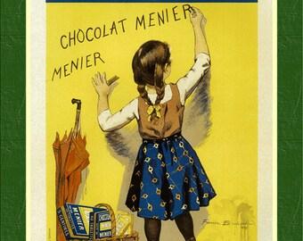 Chocolat Menier - 1892 - Vintage French Advertising Print - SG6185