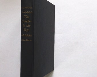 J D Salinger, The Catcher in the Rye, 1st Edition September Printing 1951, special leather jacket, Classic Novel Americana, Vintage Book