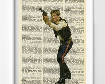 Star Wars Art - Star Wars Dictionary Print - Han Solo - Han Solo Poster - Han Solo Dictionary Poster - Star Wars Wall Art