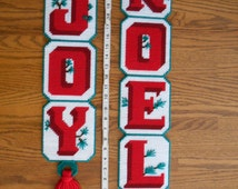 Joy to You, Noel! Handmade Needlepoint Chrsitmas Wall Decor,  Beautiful Pop o' Color for Your Holiday Festivities, Simple Christmas Homemade