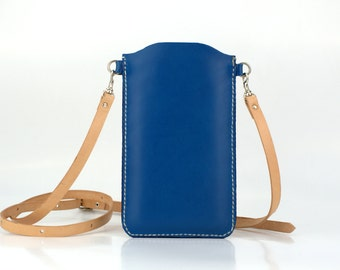 iPhone 6s Bag, Leather iPhone 6 Pouch Shoulder Bag Adjustable Strap - Stylish Tote Bag iPhone 6s Crossbody Bag Handmade From Italian Leather