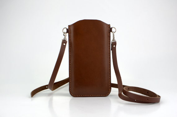 iPhone 6 Plus Crossbody Bag, Brown Shoulder Bag - Stylish iPhone 6 Plus Case 100% Handmade From Italian Leather