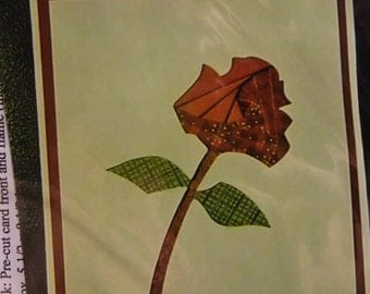 Iris Folding Kit - Rose - Pattern, Card Fronts (6) and color photograph