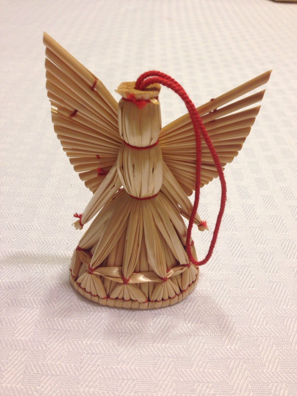 Vintage Swedish Straw Angel Christmas Ornament