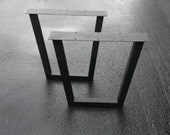 Metal Coffee Table Legs - Steel Tapered Style  - Any Size!