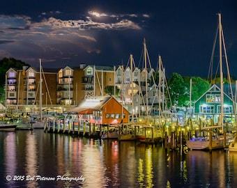 Annapolis Harbor at Night 4