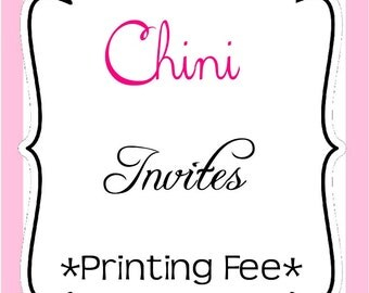 10 Personalized Printed Party Invitations with envelopes, ANY THEME in Store