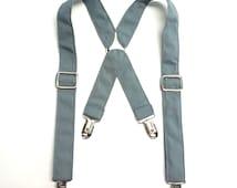 Grey Child Suspenders / Grey Kid Suspenders / Grey Toddler Suspenders / Gray Baby Suspender / Ring Bearer Suspenders / Gray Suspenders