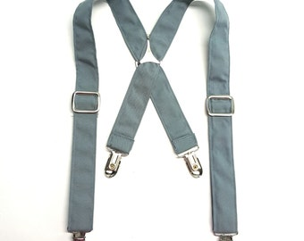 Grey Child Suspenders / Grey Kid Suspenders / Grey Toddler Suspenders / Gray Baby Suspender / Ring Bearer Suspenders / Gray Suspenders