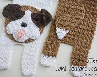Crochet Pattern For Yorkie Dog : Crochet PATTERN Yorkie Scarf / Dog Breed Scarf Puppy Scarf