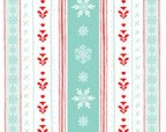 Peppermint Penguins - Nordic Stripe Mint (3024-1) Studio-e Fabric Yardage