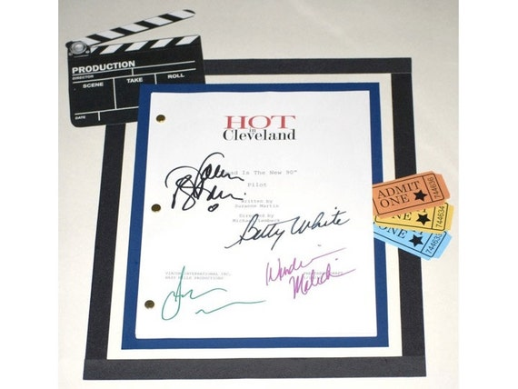 Hot in Cleveland Pilot Episode Autographed: Betty White