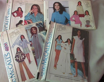 SALE! Sewing Patterns McCall's Marlo's Corner Marlo Thomas That Girl 1970's