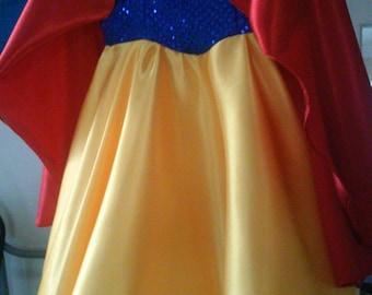 Snow White inspired princess dress
