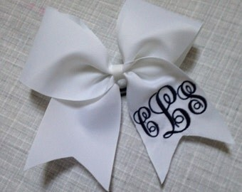 Monogrammed Cheer Bow