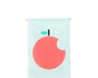 Big Apple Bite Wall Art // Nursery Wall Art // Canvas Wall Art // Gifts for Kids