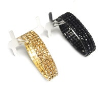 Corsage Wrist-let with Rhinestone Band, 1-pack