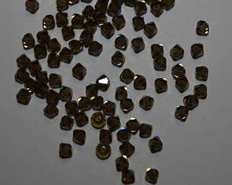 50 - 4mm Genuine Swarovski Crystal Beads - Smokey Quartz