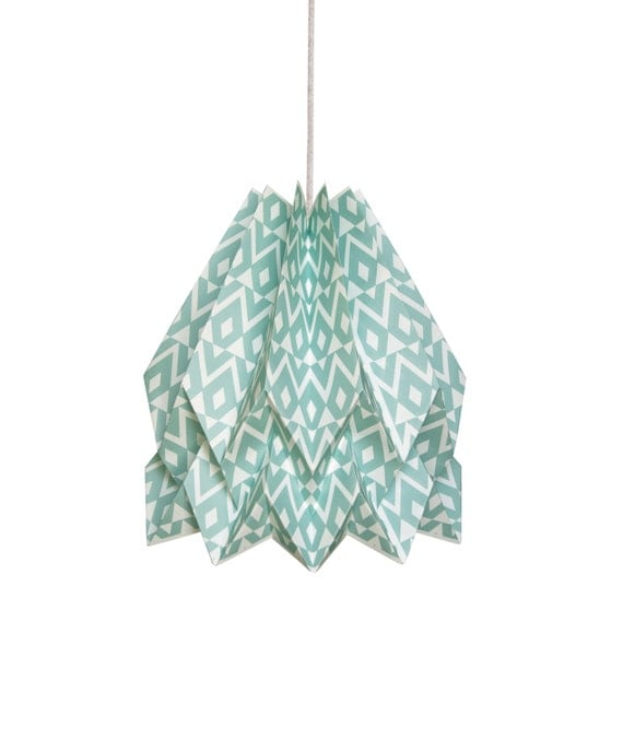 Origami Lamp | TUPI Deep Lagoon | Native Collection | Handmade Lampshade | FREE SHIPPING