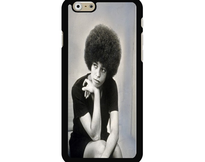 Angela Davis iPhone Galaxy Note LG HTC Protective Hybrid Rubber Hard Plastic Snap on Case Black