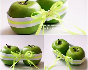 SALE Green Wedding Ring Holder Ring bearer pillow alternative Wedding Ring Pillow Bearer Ring Pillow Bright Ring Pillow  ring bearer