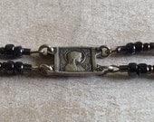 Vintage French Virgin Mary Catholic Bracelet, Silvery Plum Czech