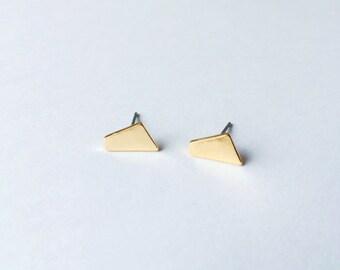 Gold Geometric Stud Earrings - Gold earrings - Geometric earrings - Minimalist earrings - Post earrings - Stud earrings -  Modern studs