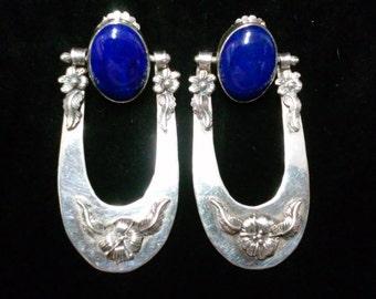 Carol Felley Sterling Silver and Lapis Lazul Earrings