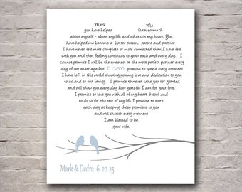 First 1st Anniversary Gift - Wedding Gift - Gift for Couples - Personalize With Your Own Names and Dates in Any Color