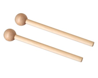Round Wooden Mallets for Pipe Chimes