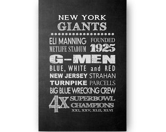 New York Giants Chalkboard Digital Download