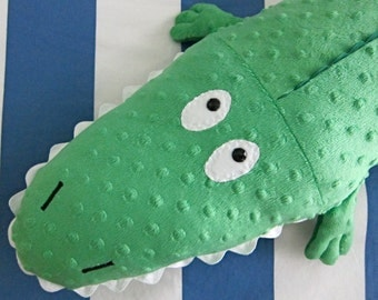 Large Alligator/Crocodile Fleece Plush Stuffed Animal Kelly Green