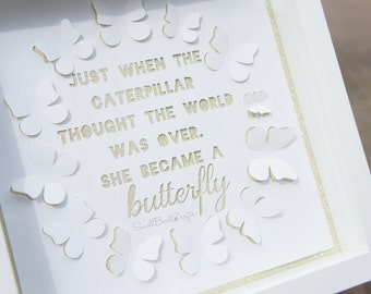 Personal Use, Papercutting Template, Butterfly Quote, Paper Cut Template, 3D Butterflies, Quote Papercut, Positive Papercut, Typography.