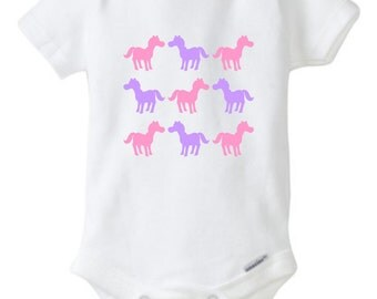 HORSE BABY ONESIE Pony Ponies *** white only ***