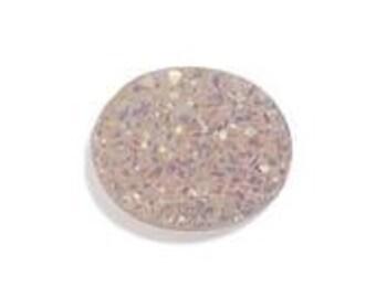 Snow Drusy Quartz Oval Cabochon Loose Gemstone 1A Quality 12x10mm TGW 2.15 cts.