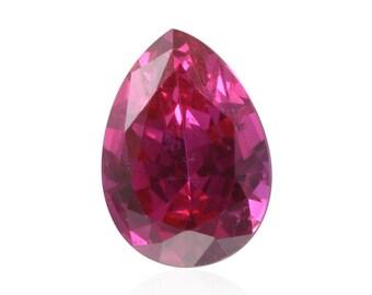 Ruby Synthetic Lab Created Loose Gemstone Pear Cut 1A Quality 7x5mm TGW 0.80 cts.