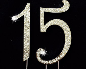 15th Birthday Cake Topper - 15th Anniversary Cake Topper